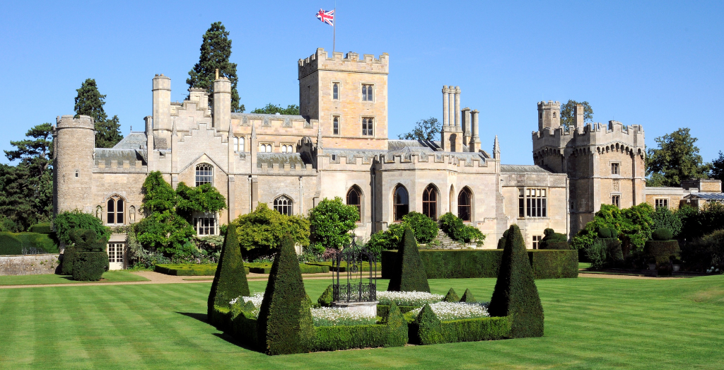 The front of Elton Hall Gardens