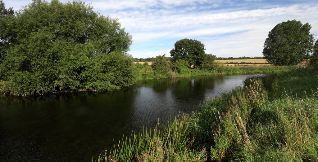 River in Ferry Meadows country park