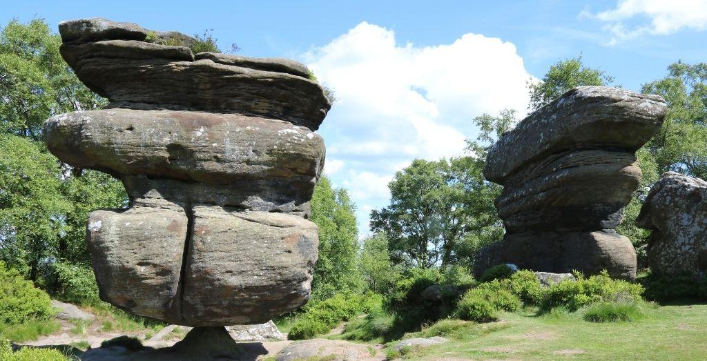Rock formation at Brimham Rocks in Yorkshire
