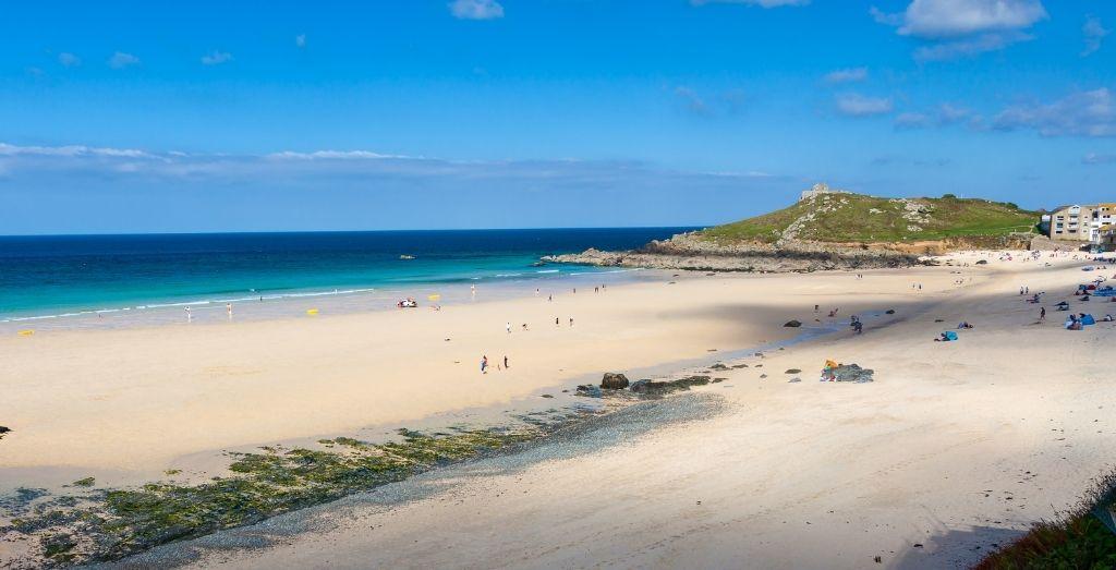 Porthmeor Beach in Cornwall